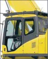 S AFETY & M AINTENANCE F EATURES Safety features Rigid, safe operator's cab • OPG top
