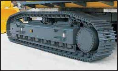 the travel motors and piping against damage from rocks Track roller guard (full length) supplied as