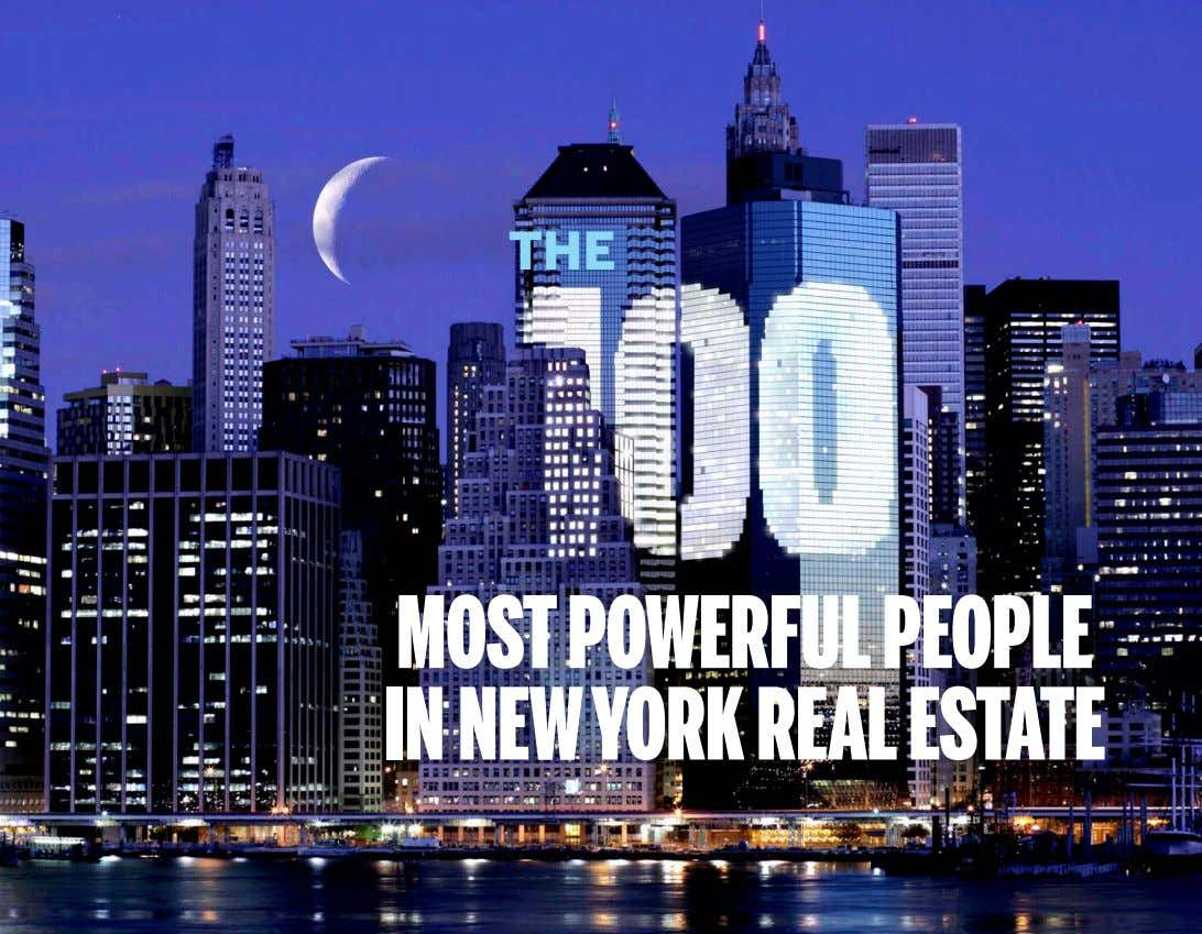 The MOST POWERFUL PEOPLE IN NEW YORK REAL ESTATE