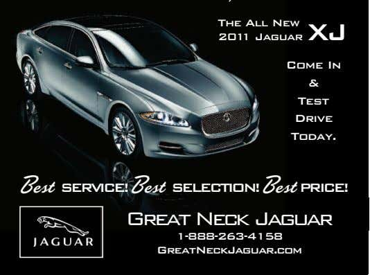 The All New 2011 Jaguar XJ Come In & Test Drive Today. Best SERVICE! Best