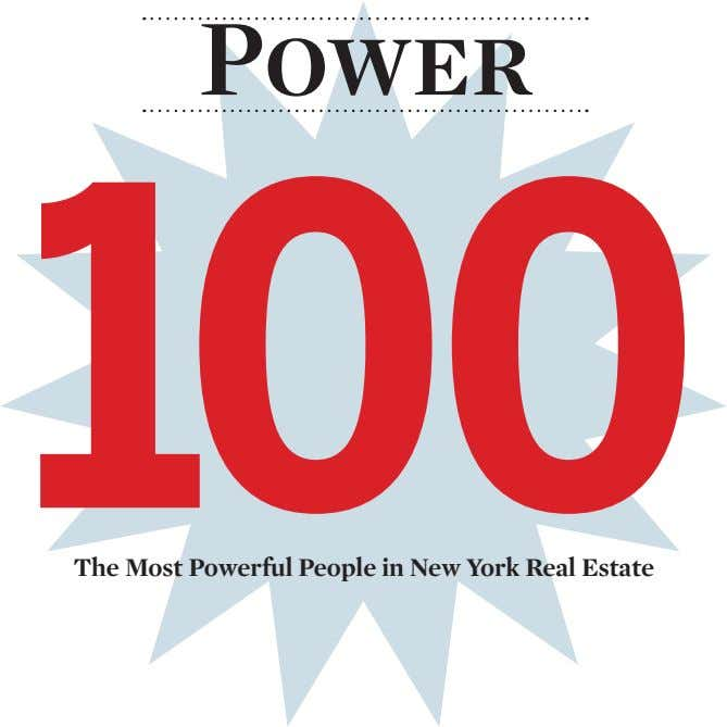 Power 100 The Most Powerful People in New York Real Estate