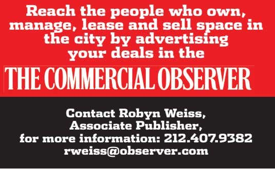 Reach the people who own, manage, lease and sell space in the city by advertising