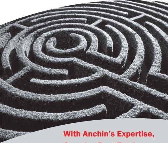 Anchin, Block & Anchin LLP Accountants and Advisors to the Real Estate Industry 212.840.3456 www.anchin.com