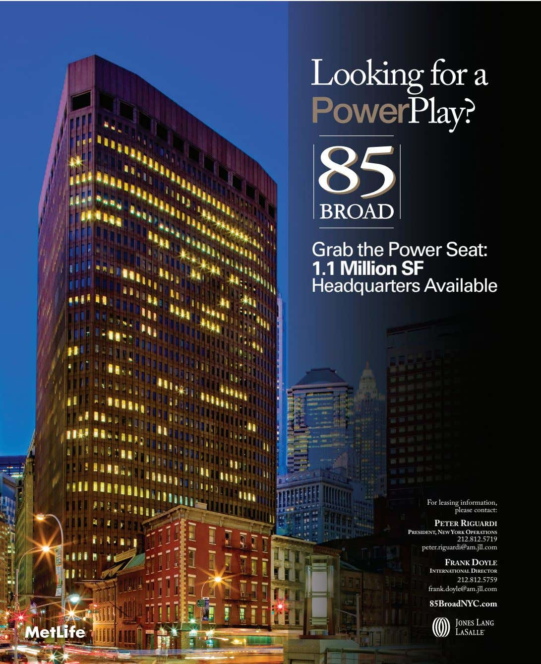 Looking for a PowerPlay? Grab the Power Seat: 1.1 Million SF Headquarters Available For leasing