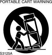 PORTABLE CART WARNING S3125A