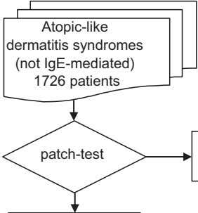 Atopic-like dermatitis syndromes (not IgE-mediated) 1726 patients patch-test