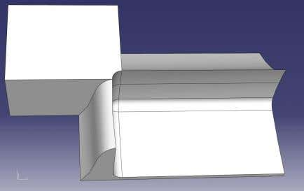 16: Solder - Side view, section sketch to extrude solid Figure 17: Solder - Top view,