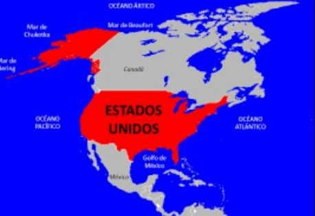 """ INGLES 1 "" 1. Location U.S.A is located in North America, between the Pacific"