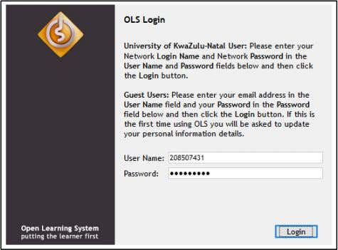 download. Figure 1-1: OLS Login Page (as at 30 April 2008) Source: Wayback Machine at web.archive.org