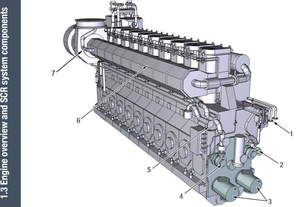 1.3 Engine overview and SCR system components