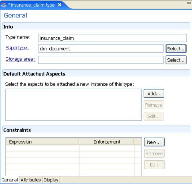 Creating the insurance claims application 6 5 .In .On the the Attributes — Structure status section,