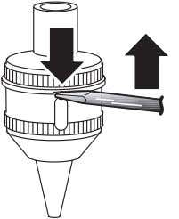 Handle the sensor cartridge with care to avoid damage. Figure 5-1 Hold the sensor housing, and