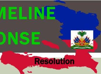 HAITI EARTHQUAKE TIMELINE LONG TERM RESPONSE Response Recovery Rebuilding Resolution Jan 12th 5pm 7.0 EQ struck