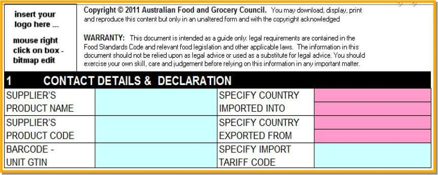 and Tariff Code – this may be of use particularly for agreements for use of PIF