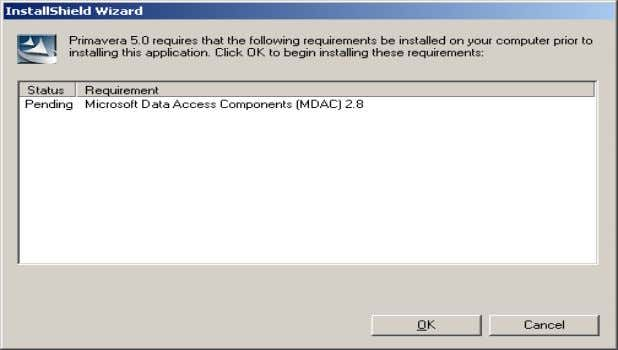 OK. If MDAC 2.8 is on the computer, skip to step 4 below: Accept MDAC's license