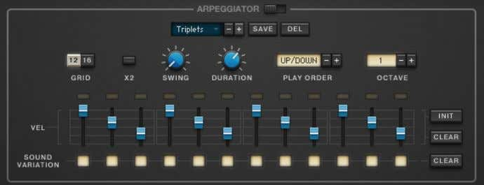 starts at beat 3, the arpeggiator will start from step 9. The Arpeggiator section. Controls ▪