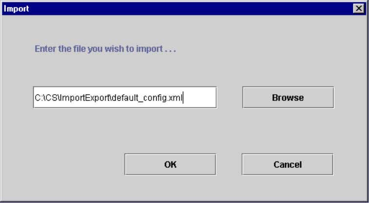 will be imported as expected. Figure 4.7-1 - Import Action Description Browse Opens a standard file