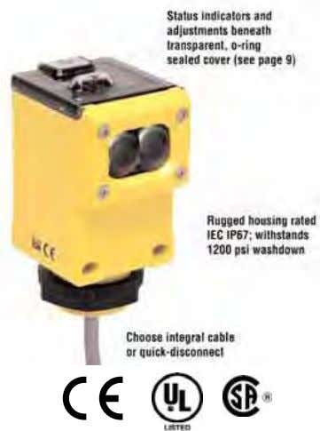 photoelectric sensors with electromechanical relay output Q45VR3 Series Features • Advanced one-piece photoelectric