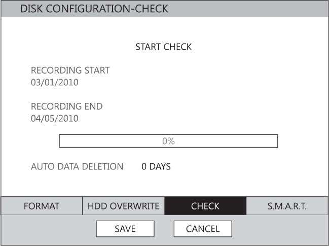 for notification when the HDD becomes full and HDD Overwrite is disabled. Check Checks the HDD