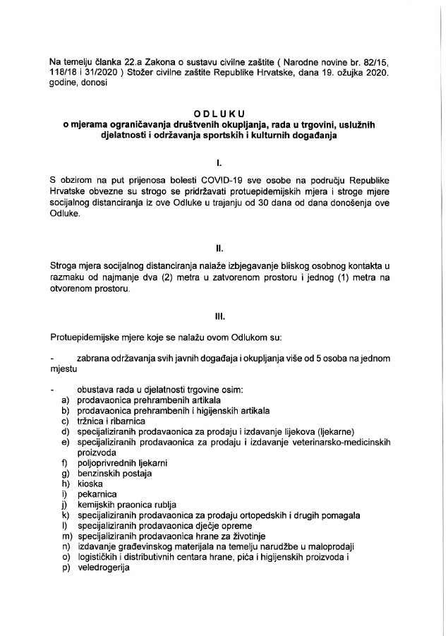 U ponoć stupaju rigorozne mjere koje će promijeniti život u Hrvatskoj sljedećih 30 dana 1-4216075d42