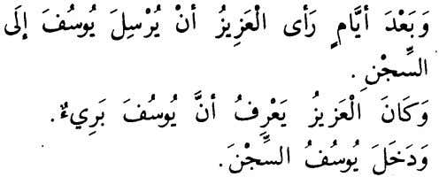 that Yusuf was innocent. And Yusuf entered the prison. 9. Advice of the prison And Yusuf