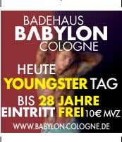 HEUTE YOUNGSTER TAG WWW.BABYLON-COLOGNE.DE