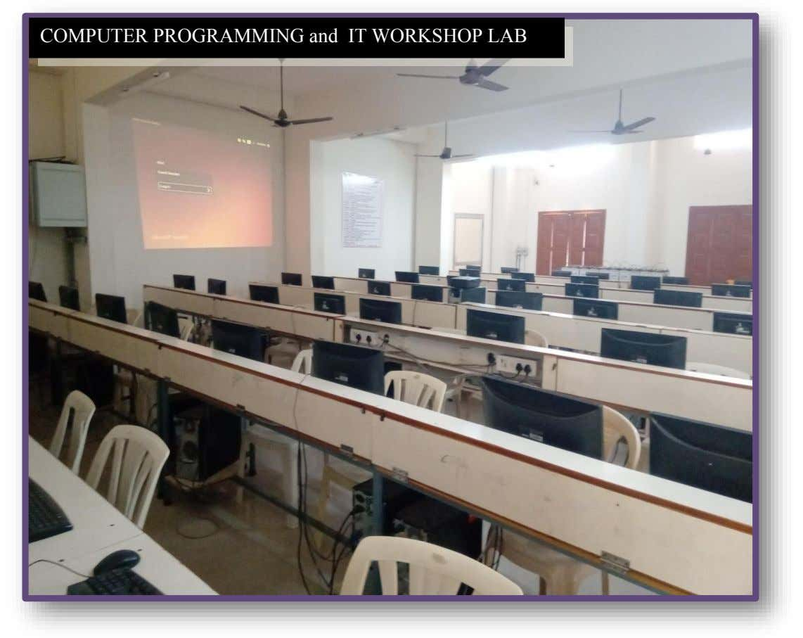 COMPUTER PROGRAMMING and IT WORKSHOP LAB