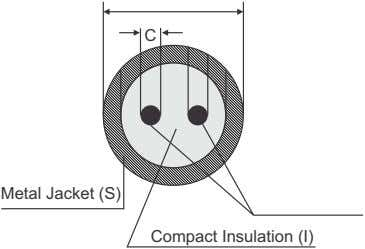 C Metal Jacket (S) Compact Insulation (I)