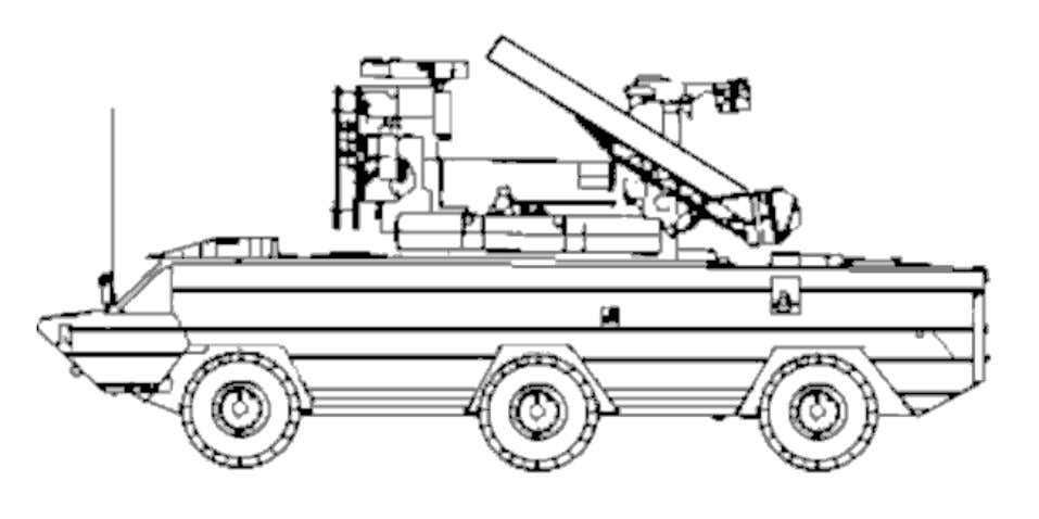 VARIANTS SA-8a Initial production model that carries four missiles on exposed rails. 4K33 Osa-M (SA-N-4) Naval