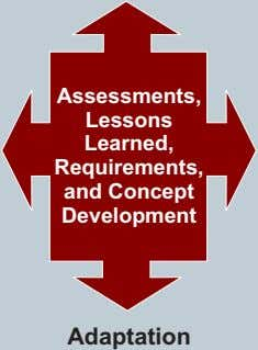 Assessments, Lessons Learned, Requirements, and Concept Development Adaptation