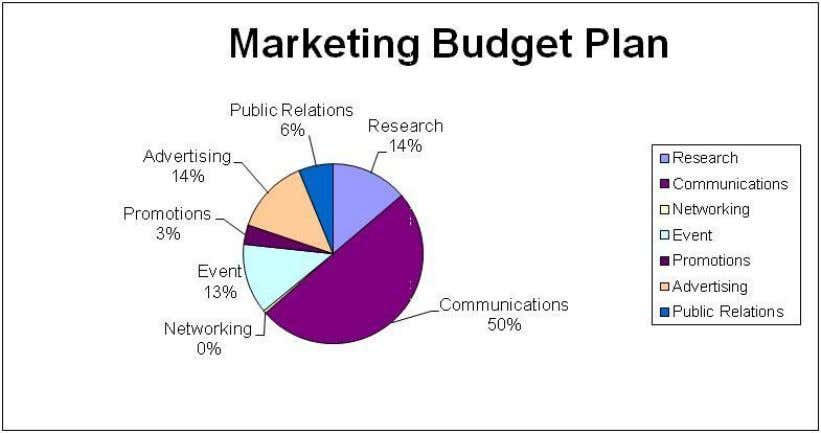 budgets, the following should be the costs allocated to the different segments of marketing plan. Page