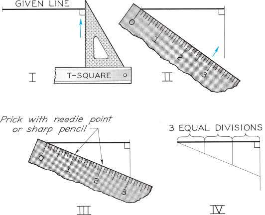© 2003, Prentice-Hall, Inc. Giesecke Technical Drawing, 12e Figure 4-15 Dividing a Line into Equal