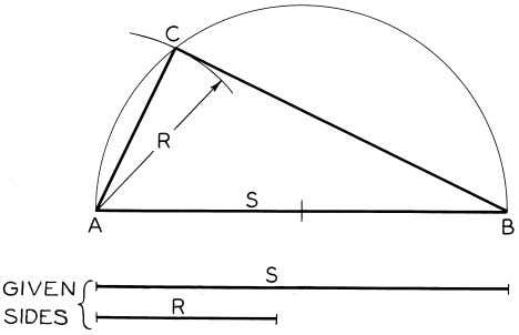 © 2003, Prentice-Hall, Inc. Giesecke Technical Drawing, 12e Figure 4-20 Drawing a Right Triangle (§4.18).