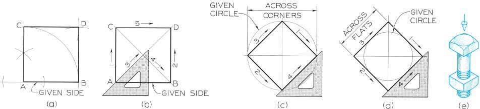 © 2003, Prentice-Hall, Inc. Giesecke Technical Drawing, 12e Figure 4-23 Drawing a Square (§4.21).