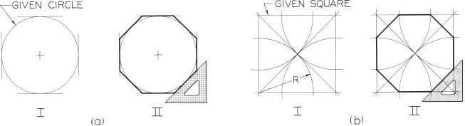 Figure 4-28 Drawing an Octagon (§4.24). Photo by Laima Druskis. © 2003, Prentice-Hall, Inc. Giesecke