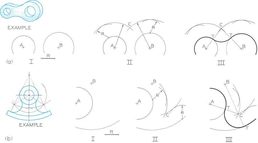 © 2003, Prentice-Hall, Inc. Giesecke Technical Drawing, 12e Figure 4-40 Drawing an Arc Tangent to