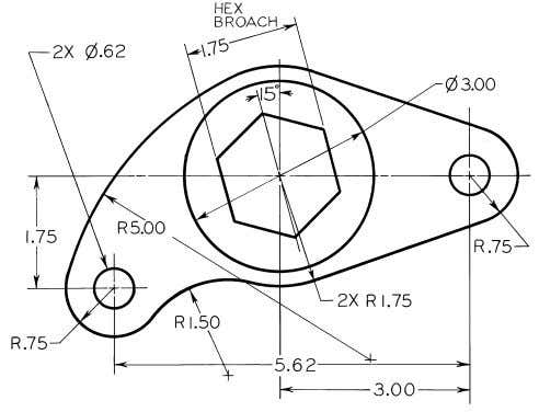 © 2003, Prentice-Hall, Inc. Giesecke Technical Drawing, 12e Figure 4-70 (Prob. 4.53) Rocker Arm.
