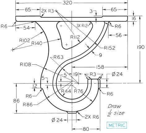 © 2003, Prentice-Hall, Inc. Giesecke Technical Drawing, 12e Figure 4-74 (Prob. 4.57) Shaft Hanger Casting.