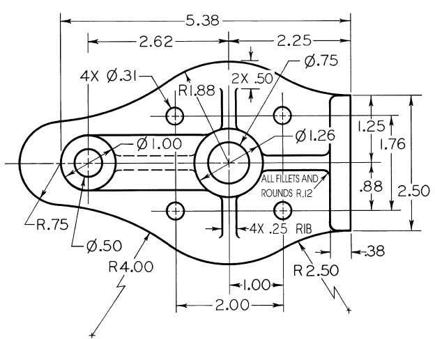 © 2003, Prentice-Hall, Inc. Giesecke Technical Drawing, 12e Figure 4-78 (Prob. 4.61) Press Base.
