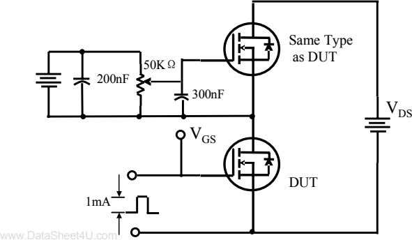 Same Type as DUT 50KΩ 200nF 300nF V DS V GS DUT 1mA www.DataSheet4U.com