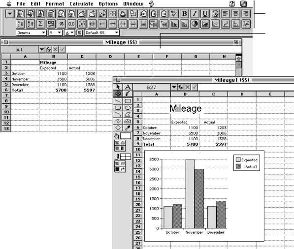 to aid comprehension, right in the spreadsheet document. Entry bar Spreadsheet menus and button bar Add