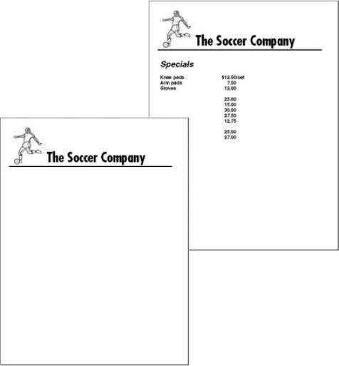 or a fax cover sheet that you customize for your own use. Saving a document In