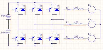 armature winding for the BLDC motor is expressed as follows: Figure 5: BLDC configurations with inverter.