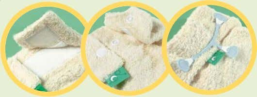 this. Our nappies have three different types of fastening: Aplix (Cotton, Bamboo & FlexiTots) Fastens just