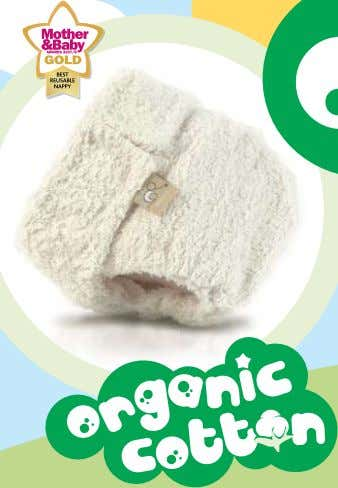 8 9 natural Hurrah! A cotton tots nappy whose cotton has been grown completely naturally without