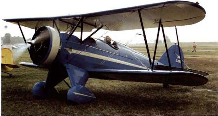 with a mix of Antique, Classic and lightplane replicas. larry Branin's Waco QCF-2 arrives as the