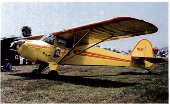 extra plexi­ glass panel in the lower half of the doors. This very nice looking Aeronca