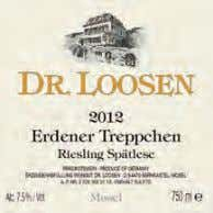 29 94 Dr. Loosen 2012 Erdener Treppchen Riesling Spätlese (Mosel). An intense experience on the nose