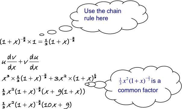 Use the chain rule here (1  x )  2  1  1