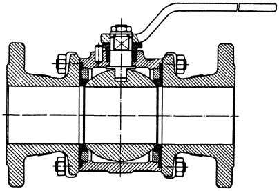 Body. ( Courtesy of Jamesbury International Corp. ) Figure 3-62. Ball Valve with Floating Ball and